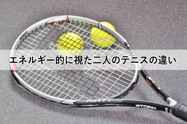 エネルギー的に視た二人のテニスの違い