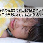 子供の夜泣きの原因と対策について<子供が夜泣きをする心の仕組み>