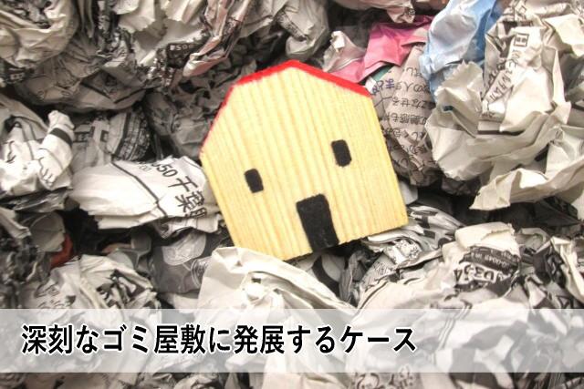 深刻なゴミ屋敷に発展するケース