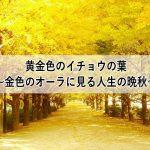 黄金色のイチョウの葉~金色のオーラに見る人生の晩秋~