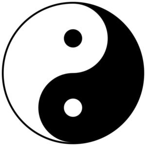 易のシンボル、太極の図