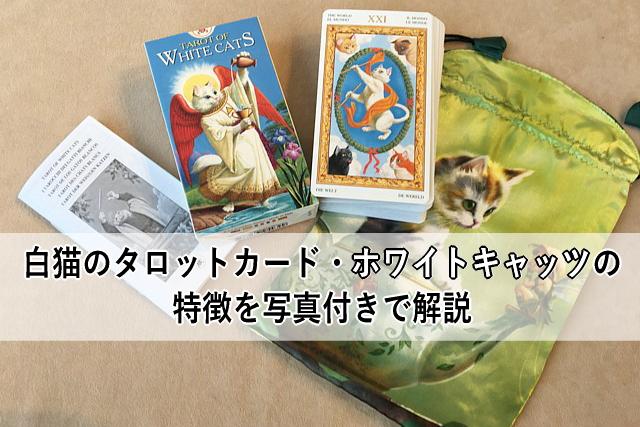 白猫のタロットカード・ホワイトキャッツの特徴を写真付きで解説