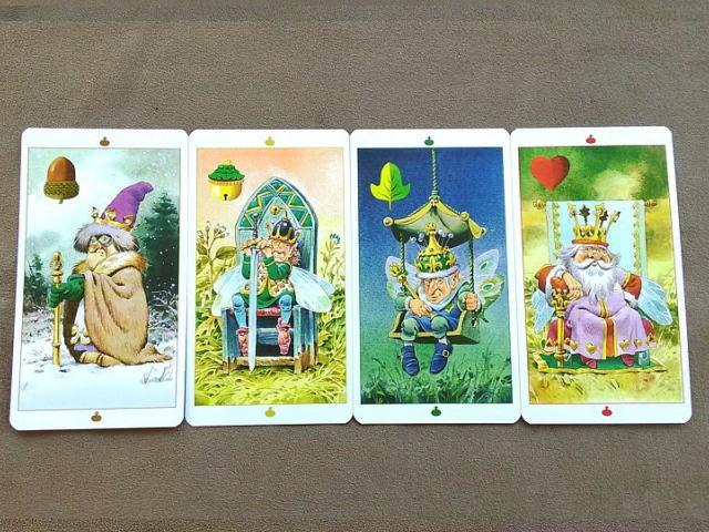 フェアリ―タロットカード キング(王)のカード