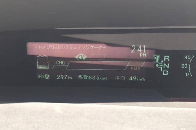プリウスの燃費計