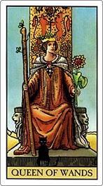 タロットカード棒の女王