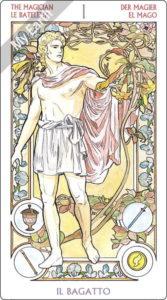 アールヌーボ・タロット 魔術師のカード