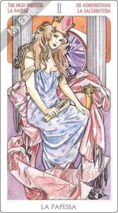 アールヌーボ・タロット 女教皇のカード