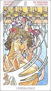 アールヌーボ・タロット 女帝のカード