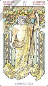 アールヌーボ・タロット 皇帝のカード