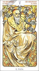 アールヌーボ・タロット 教皇のカード