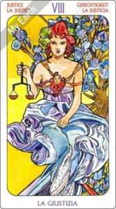 アールヌーボ・タロット 正義のカード