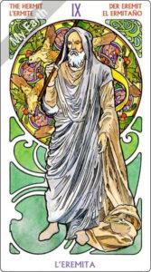 アールヌーボ・タロット 隠者のカード