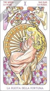 アールヌーボ・タロット 運命の輪のカード