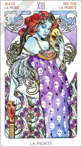 アールヌーボ・タロット 死神のカード