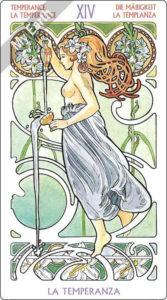 アールヌーボ・タロット 節制のカード