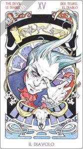 アールヌーボ・タロット 悪魔のカード
