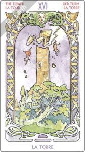 アールヌーボ・タロット 塔のカード