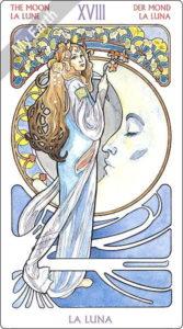 アールヌーボ・タロット 月のカード