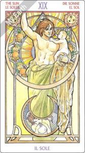 アールヌーボ・タロット 太陽のカード