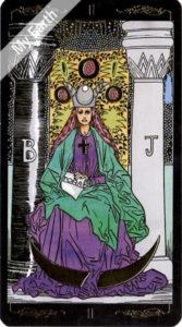 ゴールデン・ユニバーサル・タロット 女教皇のカード