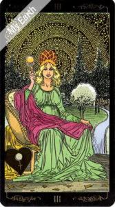 ゴールデン・ユニバーサル・タロット 女帝のカード