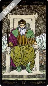 ゴールデン・ユニバーサル・タロット 皇帝のカード
