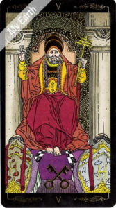 ゴールデン・ユニバーサル・タロット 教皇のカード