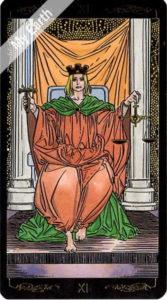 ゴールデン・ユニバーサル・タロット 正義のカード