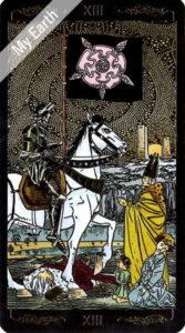 ゴールデン・ユニバーサル・タロット 死神のカード