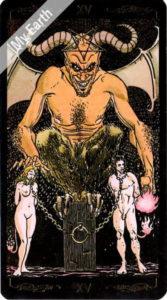 ゴールデン・ユニバーサル・タロット 悪魔のカード