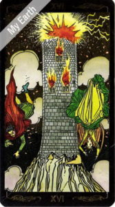 ゴールデン・ユニバーサル・タロット 塔のカード