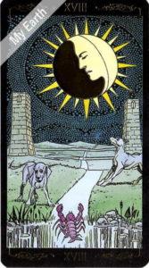 ゴールデン・ユニバーサル・タロット 月のカード