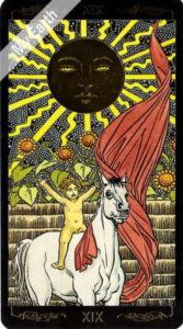 ゴールデン・ユニバーサル・タロット 太陽のカード
