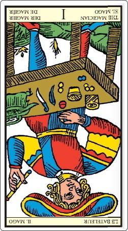 タロット・オブ・マルセイユ 魔術師のカード 逆位置