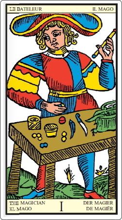 タロット・オブ・マルセイユ 魔術師のカード 正位置