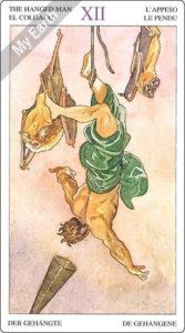 ソーサラーズタロット 吊られた男のカード