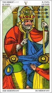 ユニバーサル・マルセイユ 教皇のカード