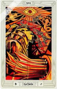 トートタロットの塔のカード