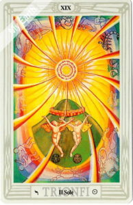 トートタロットの太陽のカード